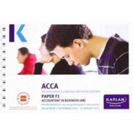 ACCA F3 Financial Accounting (Pocket Notes) - ACCA Series (Kaplan