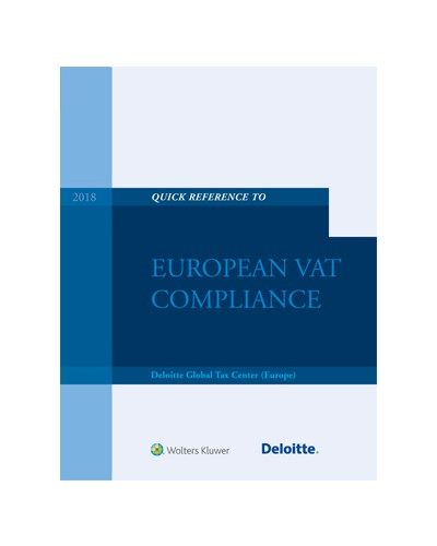 Quick Reference to European VAT Compliance 2018