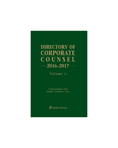 Directory of Corporate Counsel, 2016-2017 Edition