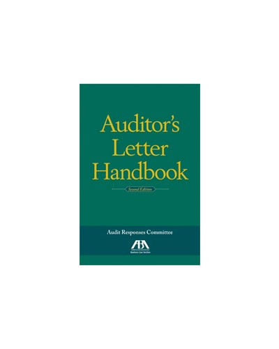 Auditor\'s Letter Handbook, 2nd Edition - Auditing / Forensic ...