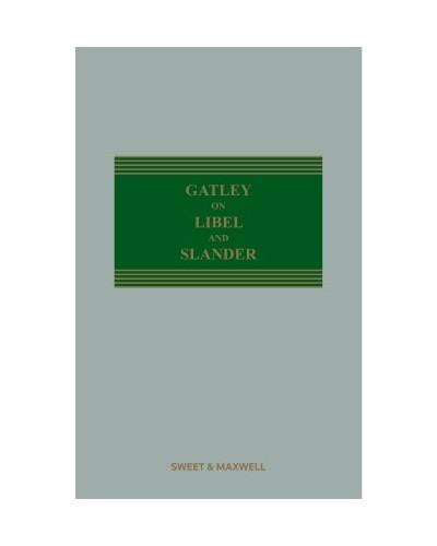 Gatley on Libel and Slander, 13th Edition