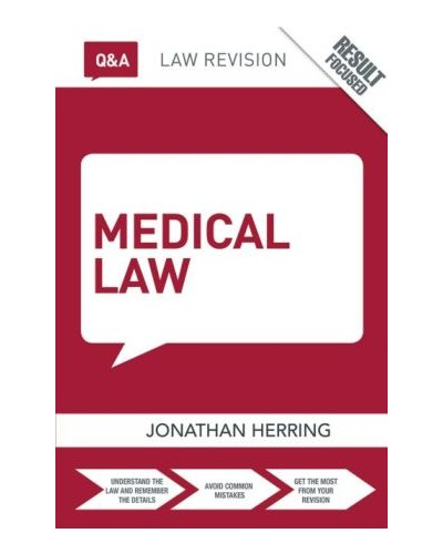 Routledge Q&A Medical Law, 3rd Edition