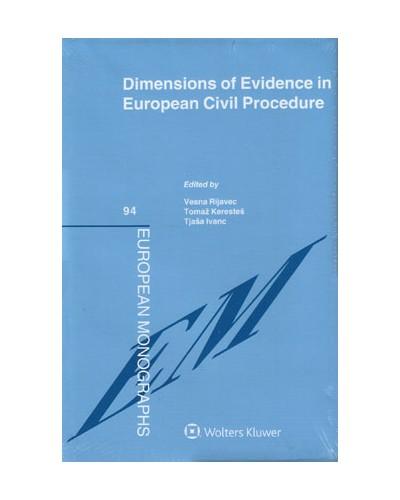 Dimensions of Evidence in European Civil Procedure