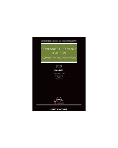Companies Ordinance (Cap.622): Commentary and Annotations 2021 (Hardcopy + e-Book)