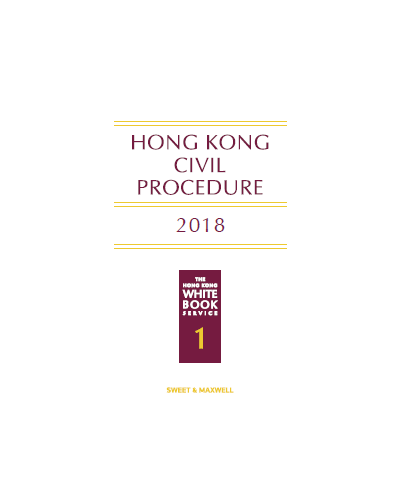 Hong Kong Civil Procedure 2019 - Civil Procedure - Law