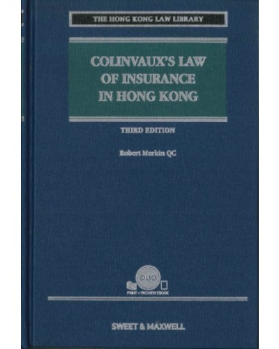 Colinvaux's Law of Insurance in Hong Kong, 3rd Edition