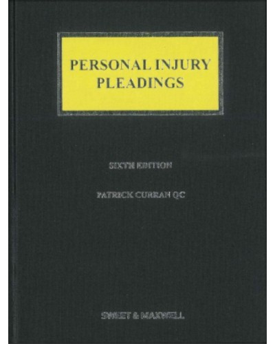 Personal Injury Pleadings, 6th Edition