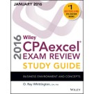 Wiley CPAexcel Exam Review 2016 Study Guide (January): Business Environment and Concepts