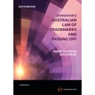 Shanahan's Australian Law of Trade Marks and Passing Off, 6th Edition