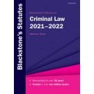 Blackstone's Statutes on Criminal Law 2021-2022