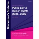 Blackstone's Statutes on Public Law & Human Rights: 2021-2022