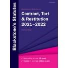 Blackstone's Statutes On Contract, Tort & Restitution 2021-2022