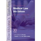 Blackstone's Statutes on Medical Law, 9th Edition