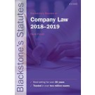 Blackstone's Statutes on Company Law 2018-2019