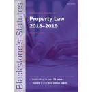 Blackstone's Statutes on Property Law 2018-2019