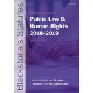 Blackstone's Statutes on Public Law & Human Rights: 2018-2019