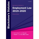 Blackstone's Statutes on Employment Law 2019-2020