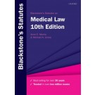 Blackstone's Statutes on Medical Law, 10th Edition