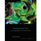 Employment Law in Context: Text and Materials, 4th Edition