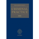 Blackstone's Criminal Practice 2021 (book and supplements 1, 2, 3)