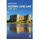 Modern Land Law, 12th Edition