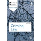 Criminal Lawcards 2012-2013, 8th Edition