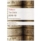 Tolley's Tax Data 2018-19: Budget edition