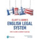 Elliott & Quinn: English Legal System 2019/20, 20th Edition