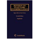 Bennion on Statutory Interpretation, 7th Edition (1st Supplement only)