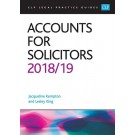 CLP Legal Practice Guides: Accounts for Solicitors 2018/19
