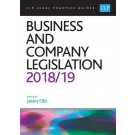 CLP Legal Practice Guides: Business and Company Legislation 2018/19