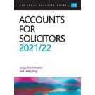 CLP Legal Practice Guides: Accounts for Solicitors 2021/22