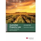 Australian Property Law: Cases, Materials and Analysis, 4th Edition