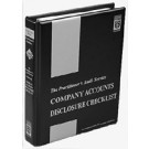 Company Accounts Disclosure Checklist