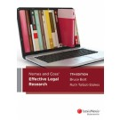 Nemes and Coss' Effective Legal Research, 7th Edition