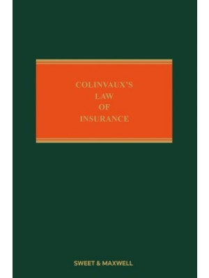 Colinvaux's Law of Insurance, 12th Edition (Mainwork + 2nd Supplement)