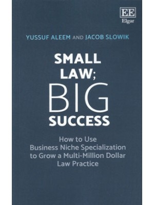 Small Law; Big Success: How to Use Business Niche Specialization to Grow a Multi-Million Dollar Law Practice