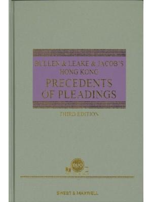 Bullen & Leake & Jacob's Precedents of Pleadings Hong Kong, 3rd Edition (Hard Copy + e-Book)