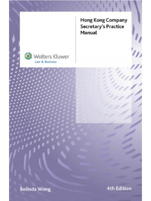 Hong Kong Company Secretary's Practice Manual, 4th Edition