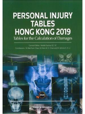 Personal Injury Tables Hong Kong 2019